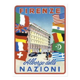 Poster del viaje de Firenze Nazioni Postales
