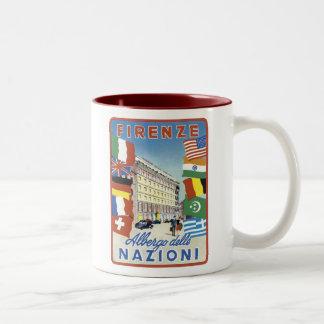 Poster del viaje de Firenze Nazioni Tazas