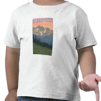 Poster del viaje de FlowersMontanaVintage de la Camiseta
