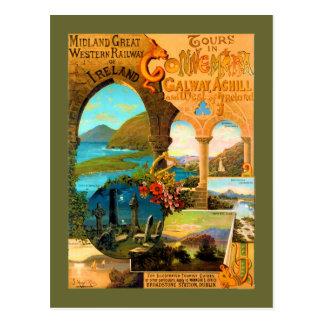 Poster del viaje de Galway Tarjeta Postal