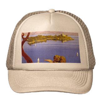 Poster del viaje de Garda del lago vintage Gorras