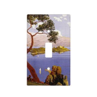 Poster del viaje de Garda del lago vintage Tapas Para Interruptores
