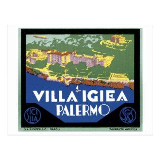 Poster del viaje de Igiea Palermo del chalet Tarjetas Postales