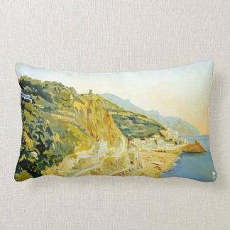 Poster del viaje de Italia del Campania de Amalfi  Almohadas