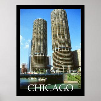 Poster del viaje de la arquitectura de Chicago