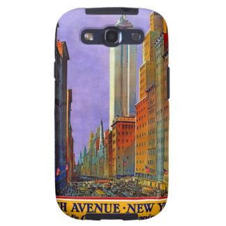 Poster del viaje de la avenida de New York City NY Samsung Galaxy SIII Funda