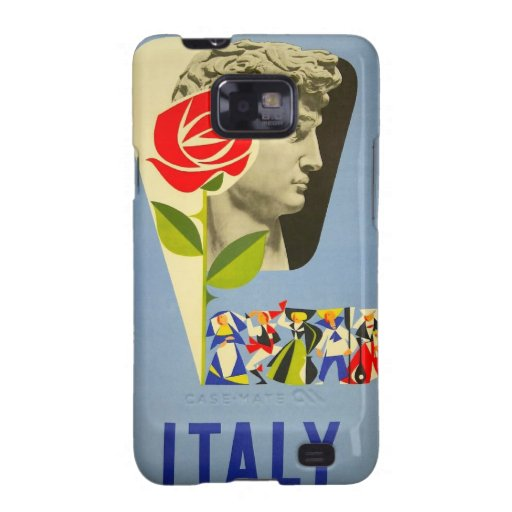 Poster del viaje de la estatua de David del italia Galaxy SII Carcasa