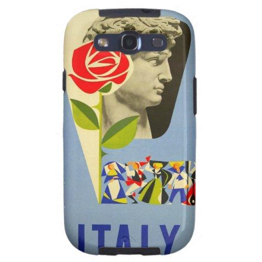 Poster del viaje de la estatua de David del italia Samsung Galaxy S3 Funda