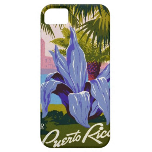 Poster del viaje de la flor de Puerto Rico del Funda Para iPhone 5 Barely There