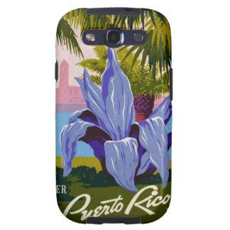 Poster del viaje de la flor de Puerto Rico del vin Galaxy S3 Fundas