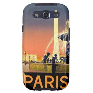 Poster del viaje de la fuente de París Francia del Galaxy SIII Coberturas