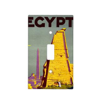 Poster del viaje de la pirámide de Egipto del Tapas Para Interruptores