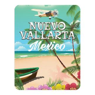 """Poster del viaje de la playa de Nuevo Vallarta Invitación 4.25"""" X 5.5"""""""