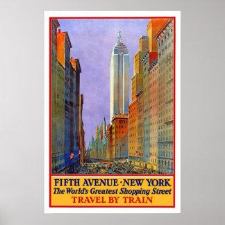 Poster del viaje de la Quinta Avenida de Nueva Yor