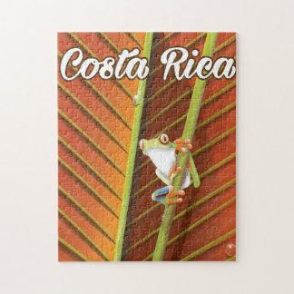 Poster del viaje de la rana del veneno de Costa Puzzle