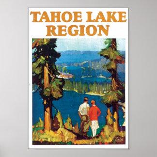 Poster del viaje de la región del lago Tahoe