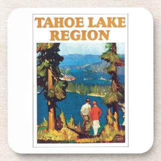 Poster del viaje de la región del lago Tahoe Posavasos De Bebidas