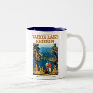 Poster del viaje de la región del lago Tahoe Tazas De Café