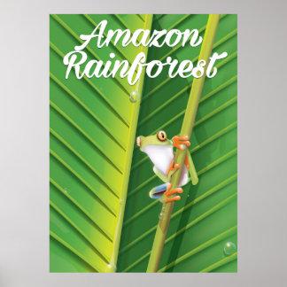 Poster del viaje de la selva tropical del Amazonas