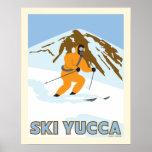 Poster del viaje de la yuca del esquí