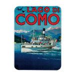 Poster del viaje de Lago Di Como Vintage Iman Flexible