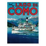 Poster del viaje de Lago Di Como Vintage Tarjetas Postales