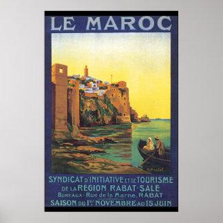 Poster del viaje de Le Maroc Vintage