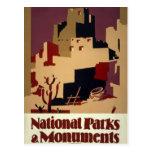 Poster del viaje de los parques nacionales de WPA Postal