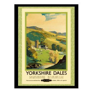Poster del viaje de los valles de Yorkshire Postal