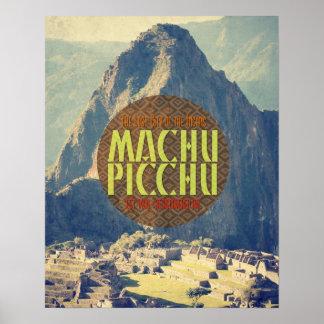 Poster del viaje de Machu Picchu Perú