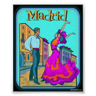 Poster del viaje de Madrid