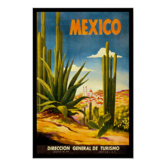 Poster del viaje de México