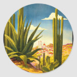 Poster del viaje de México Pegatina Redonda