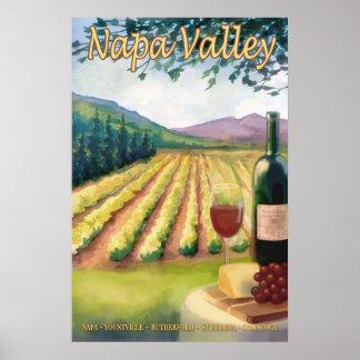 Poster del viaje de Napa Valley, país vinícola de