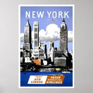 Poster del viaje de New York City del vintage