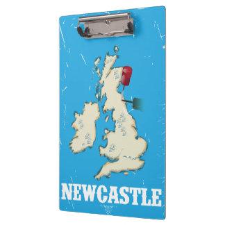 Poster del viaje de Newcastle del vintage