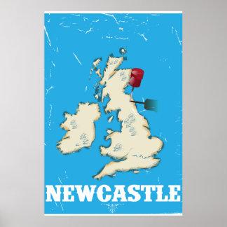 Poster del viaje de Newcastle País de Gales del