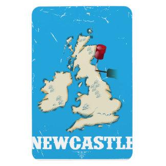 Poster del viaje de Newcastle País de Gales del Iman Flexible