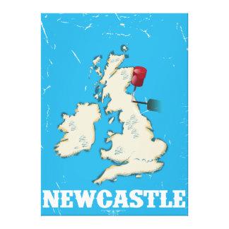 Poster del viaje de Newcastle País de Gales del Impresión En Lienzo Estirada