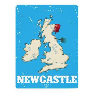 """Poster del viaje de Newcastle País de Gales del Invitación 6.5"""" X 8.75"""""""