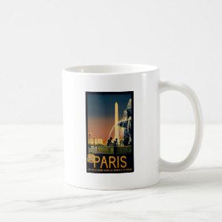 Poster del viaje de París para las redes ferroviar Tazas De Café