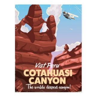 Poster del viaje de Perú del barranco de Cotahuasi Postales