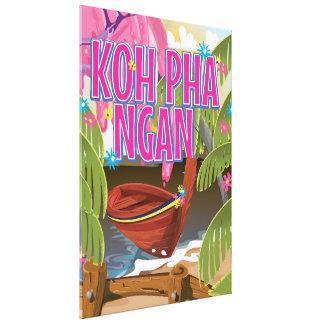 Poster del viaje de Pha Ngan Tailandia de la KOH Impresiones En Lienzo Estiradas