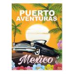 Poster del viaje de Puerto Aventuras México Postal