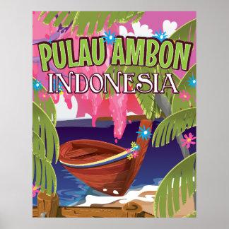 Poster del viaje de Pulau Ambon Indonesia