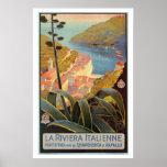 Poster del viaje de Riviera del italiano de