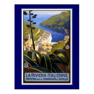 Poster del viaje de Riviera del italiano Postales