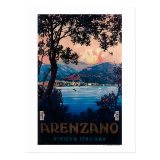 Poster del viaje de Riviera del italiano Tarjeta Postal