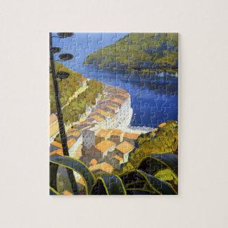 Poster del viaje de Riviera del La del vintage Puzzles
