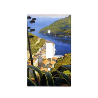 Poster del viaje de Riviera del La del vintage Placa Para Interruptor